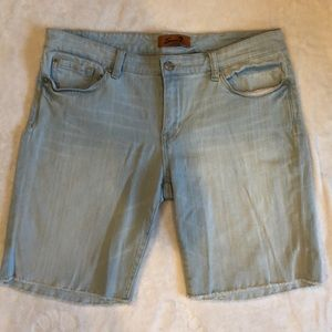 7 For All Mankind Light Blue Wash Jean Shorts
